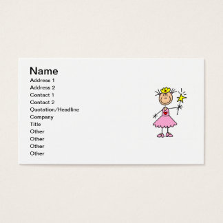 Princess With Wand Business Card