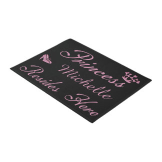 Princess Your Name Resides Here Doormat