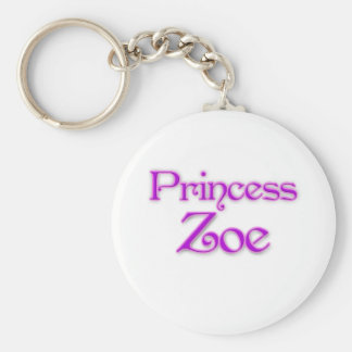 Princess Zoe Basic Round Button Key Ring