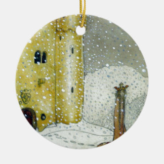 Princessa by Snowy Castle Christmas Ornament
