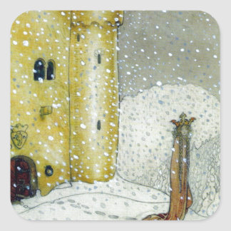 Princessa by Snowy Castle Square Sticker