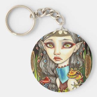 Princesse Grenouille Basic Round Button Key Ring