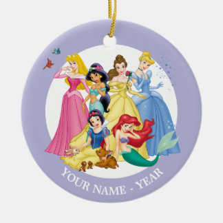 Princesses | Birds and Animals Add Your Name Christmas Ornament