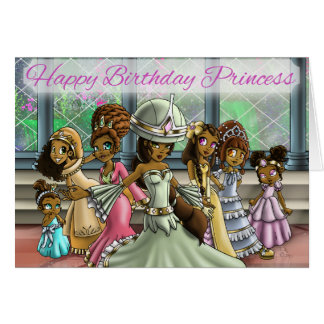 """Princesses Birthday Cards"" Card"