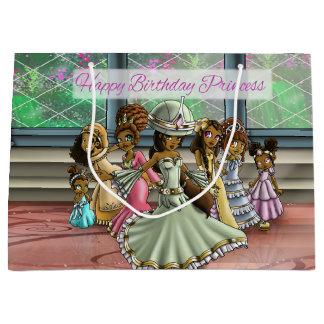 Princesses Birthday Gift Bag - Large, Glossy Large Gift Bag