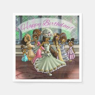 """Princesses Birthday Paper Napkins"" Paper Napkins"