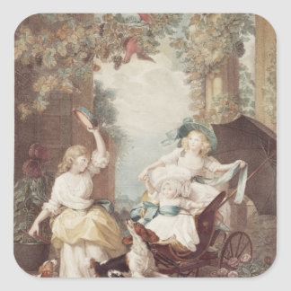 Princesses Mary , Sophia  and Amelia Square Sticker