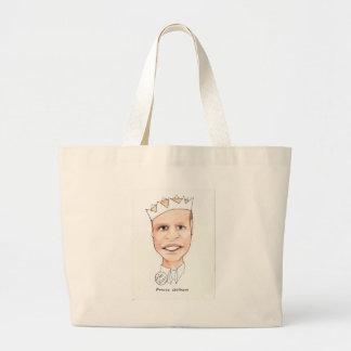 princewilly print by Kaye Talvilahti Large Tote Bag