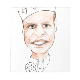 princewilly print by Kaye Talvilahti Notepad