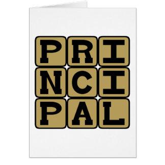 Principal, Leader of the School Greeting Card