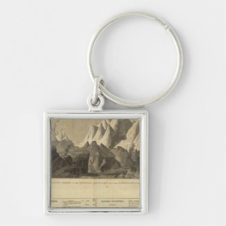Principal Mountains, &c Throughout The World Silver-Colored Square Key Ring