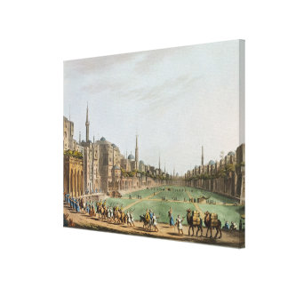 Principal Square in Grand Cairo, with Murad Bey's Canvas Print