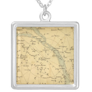 Principal Stars Visible to Great Britain Silver Plated Necklace