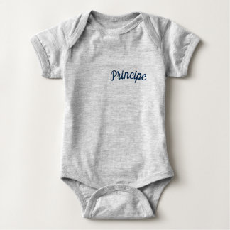 Principe / Prince Mammaprada Baby Bodysuit Grey