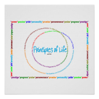 principles of life - definition poster