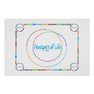 principles of life -  empower embolden definition poster