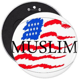 principles of life - muslim american 6 cm round badge
