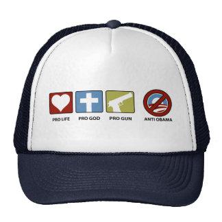 Princples Against Obama Trucker Hat