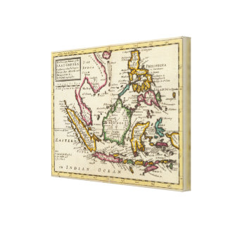 Prinicipal islands of the East Indies Stretched Canvas Prints
