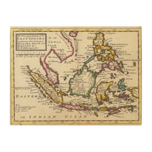 Prinicipal islands of the East Indies Wood Canvases