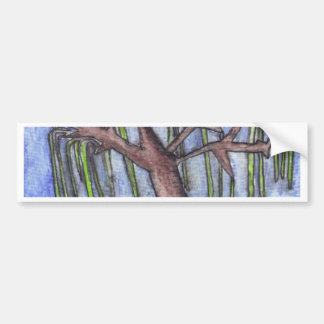 Print 8 Droopy Depressed Tree in the Middle of No Bumper Sticker