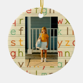 Print Alphabet First Day of School All Occasion Christmas Ornament