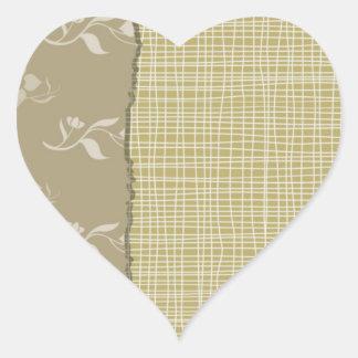 Print GREEN  shades Heart Sticker