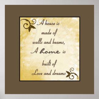 Print - Home: Love & Dreams