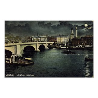 Print - London Bridge by Moonlight