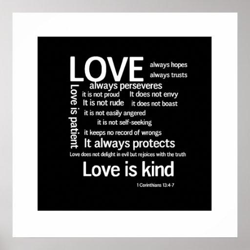 Print - Love is Patient Random WB
