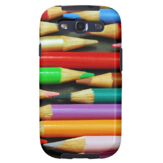 Print of Colourful pencils Galaxy SIII Covers