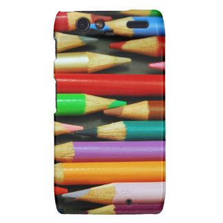 Print of Colourful pencils Droid RAZR Cover