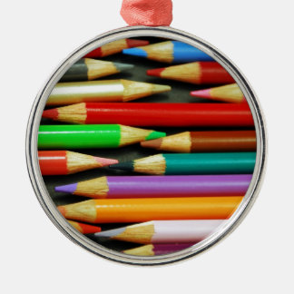 Print of Colourful pencils Christmas Tree Ornament
