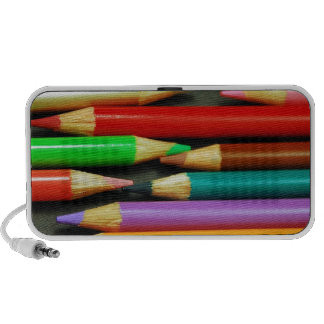 Print of Colourful pencils Mp3 Speakers