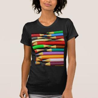 Print of Colourful pencils Tee Shirt