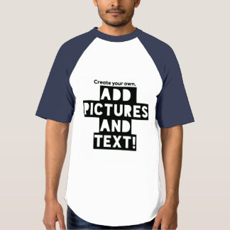 Print on a Baseball T-shirt - Add images and text!
