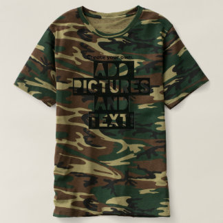Print on a camouflage Tee - Add images and text!