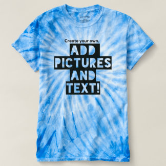 Print on a Tie-Dye T-Shirt - Add images and text!