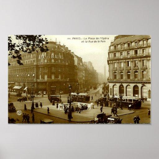 Print - Paris, Place de l'Opera