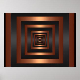 Print Rectangle Vision Black & Copper