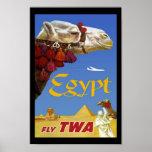 Print Retro Vintage Image Travel Egypt