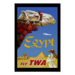 Print Retro Vintage Image Travel Egypt Print