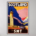 Print Retro Vintage Image Travel Scotland