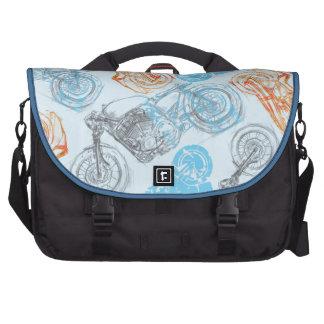 print with bikes laptop computer bag