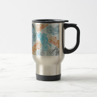 print with bikes stainless steel travel mug