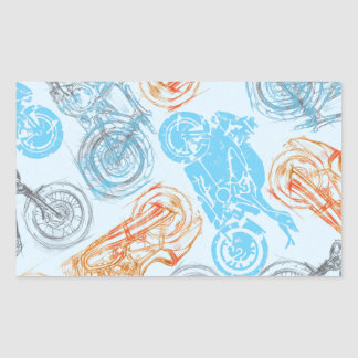 print with bikes rectangular sticker