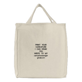 PRINT YOUR CARICATUREI DOG DRAW YOU WRITE TO MY… BAGS
