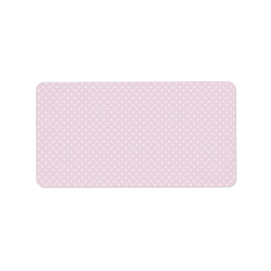 Printable DIY blank address labels with polka dots