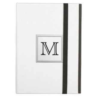 Printed Custom Monogram. Black and White. Cover For iPad Air