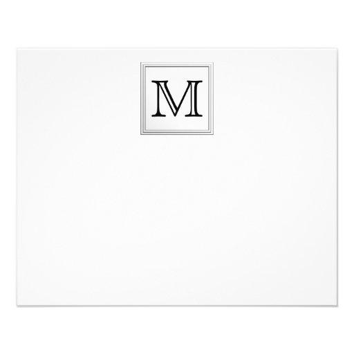 Printed Custom Monogram. Black and White. Full Color Flyer